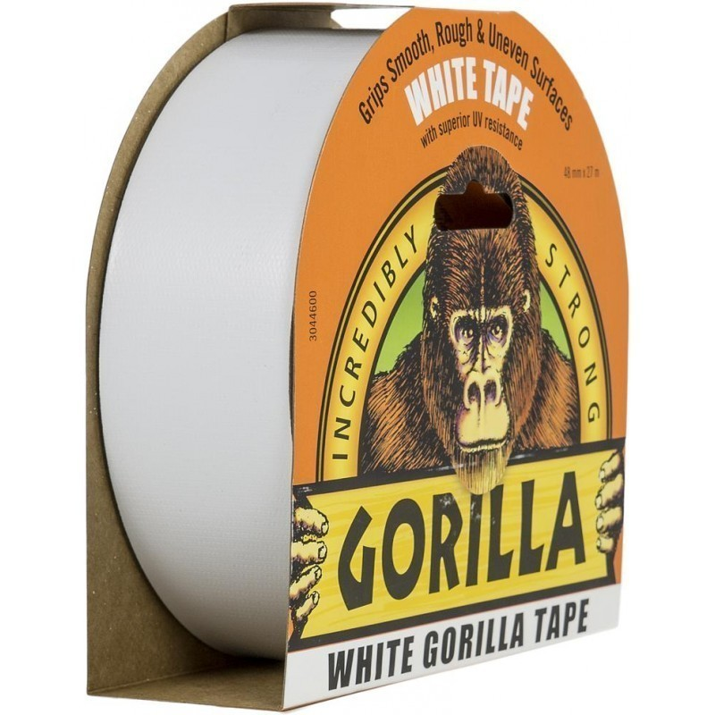 Gorilla – Hvit Tape, 27 m x 48 mm