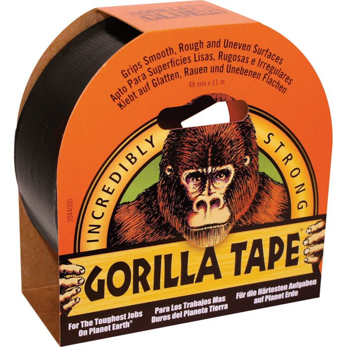 Gorilla – Svart Tape, 32 m x 48 mm