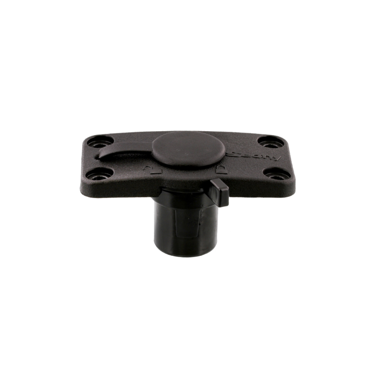 Scotty 244L Flush Deck Mount, Locking, Black w/Rain Cap