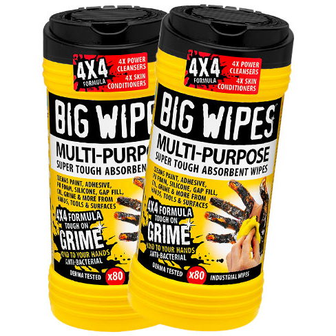 Big Wipes 4x4 Multi 80 tørk