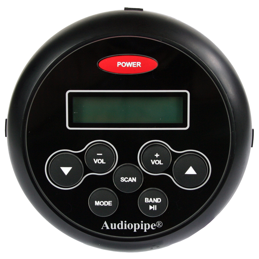 Audiopipe stereo 1110BT - IP67, bluetooth, sort