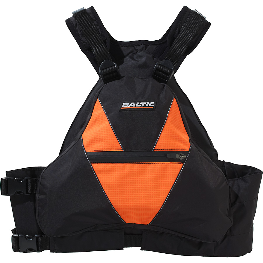 Flytevest, X2 sort/oransje - Baltic