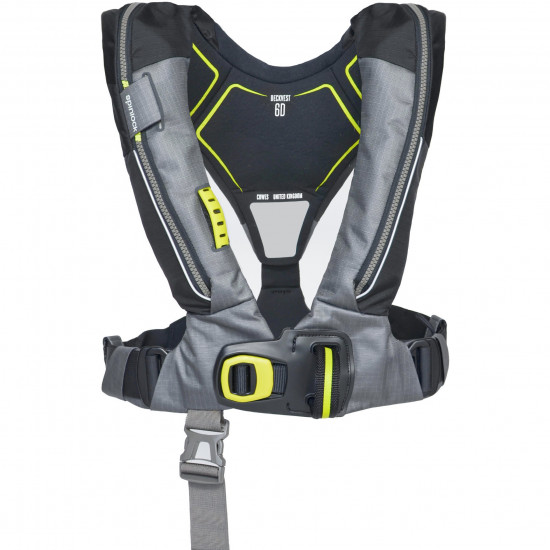 Deckvest 6D Black with Fitted HRS system