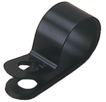 "CABLE CLAMP 3/8"" x 1/8"" BLACK NYLON"
