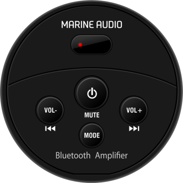 Marine Bluetooth spiller - rund sort